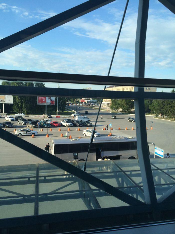 новосиб из окна аэропорта