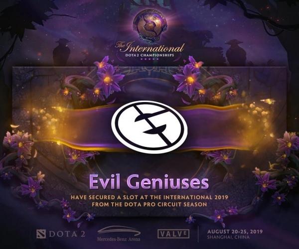 The International 2019, dota2, evil geniuses