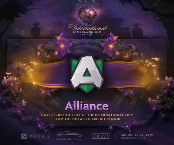 The International 2019, dota2, alliance